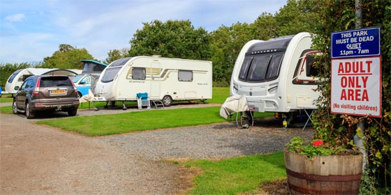 choose our adults only touring pitches for tranquil, child-free holidays near York