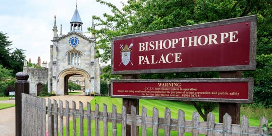 The home of the Bishops of York, Bishopthorpe Palace