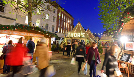 Visit York's fabulous Christmas Markets from York Naburn Lock Caravan Park