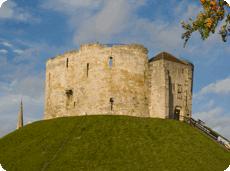 York Castle's Clifford's Tower just one of the City attractions to visit from York Naburn Lock Caravan Parkci