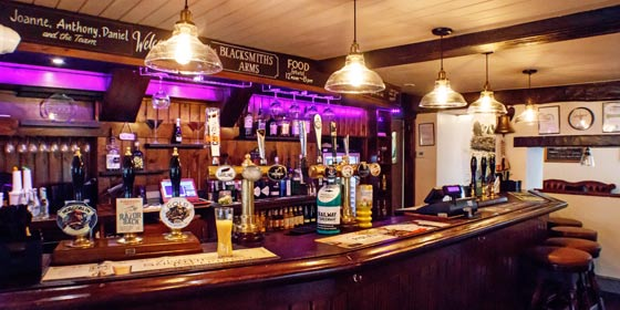 The Blacksmith's Arms is a friendly, cosy inn close to York Naburn Lock Caravan Park