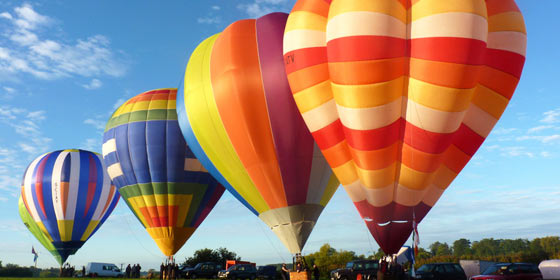 Visit York's fabulous Hot Air Balloon Festival at York Racecourse