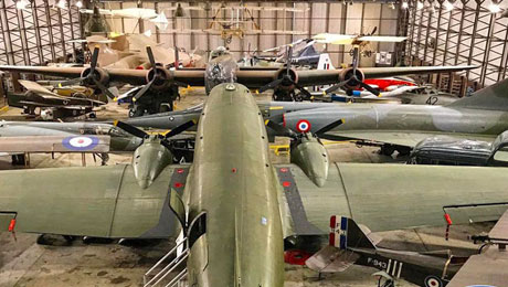 Yorkshire Air Museum collection of military and civilian aircraft